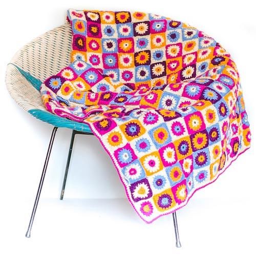 Crochet Happy Blanket Pattern