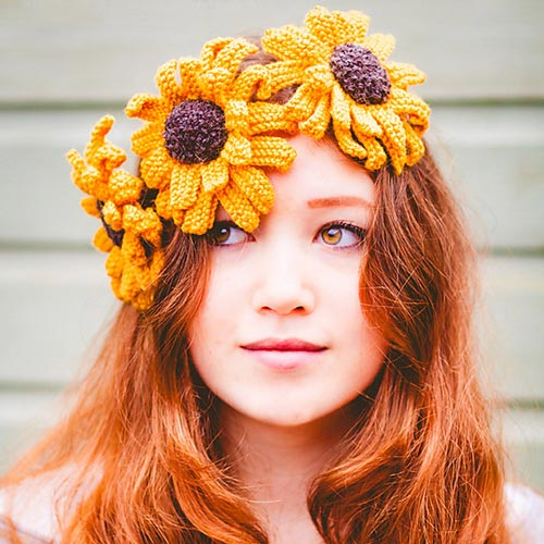 Knitted Sunflower Pattern